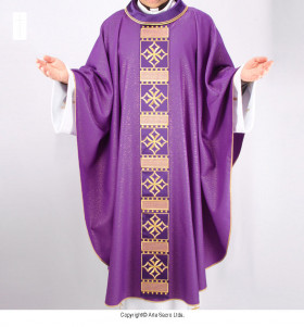 Purple Color Solene Cathedral Chasuble