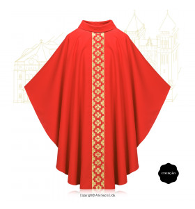 Red Color Via Salvatoris Chasuble