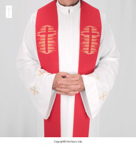 Red Color Holy Cross Stole