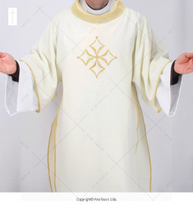 White and Gold Color Cathedral Dalmatic