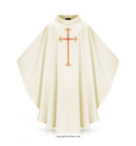 Green Color Divine Love Chasuble