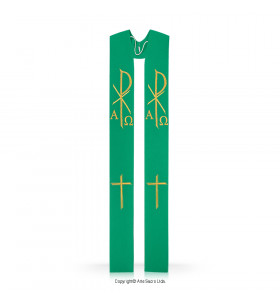 White Color Monogram and Cross Stole