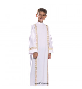 White Color First Communion Alb