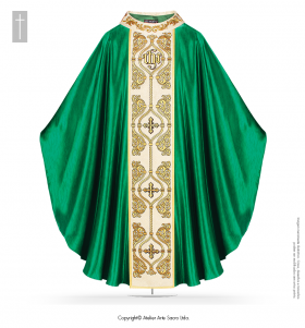 Green Color Chasuble Arabescos