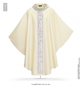 Beige Color San Salvator Chasuble