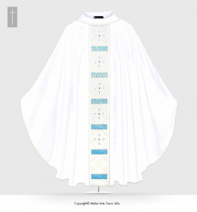 White Color Holy Mary Chasuble