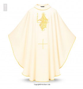 Beige Color Pantocrator Chasuble