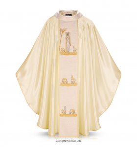 Beige Color Good Shepherd Chasuble