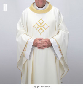 Beige Color Cathedral Chasuble
