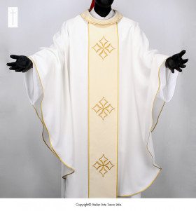 White Color Cathedral Chasuble
