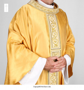 Gold Color San Salvator Chasuble