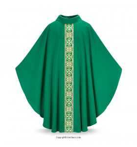 Green Color Liz Flower Chasuble