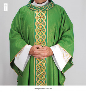 Green Color Divina Lux Chasuble