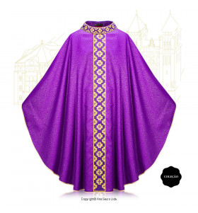 Purple Color Via Salvatoris Chasuble