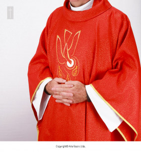 Red Color Holy Spirit Chasuble
