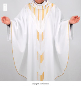 White Color Pope Benedict XVI Chasuble