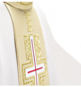 White Color Cross Chasuble