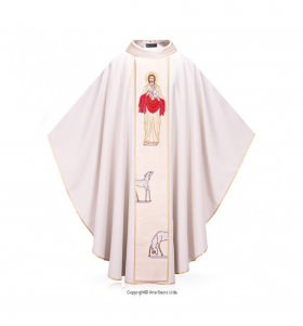 White Color Pastor's Life Chasuble
