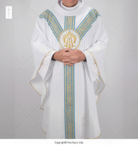 White Color Our Lady Chasuble
