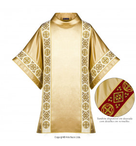 Gold Color Christ The King Dalmatic