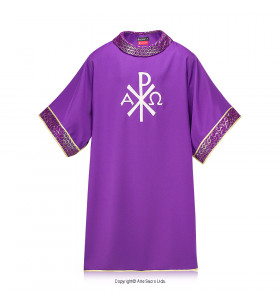 Purple Color Monograma Dalmatic