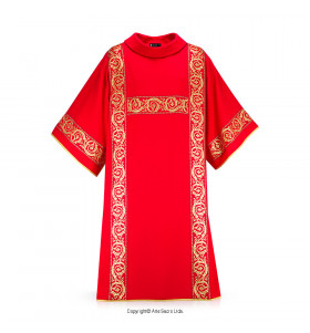 Red Color Ramos Dalmatic