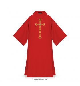 Red Color Divine Love Dalmatic
