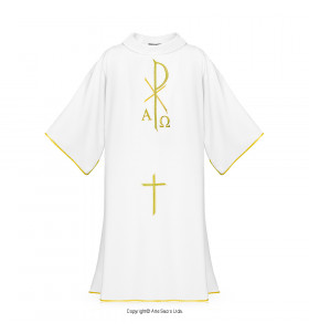 White Color CHI RHO Dalmatic