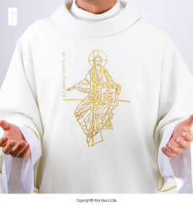 White Color Pantocrator Dalmatic