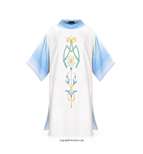 White and Blue Queen of Heaven Dalmatic