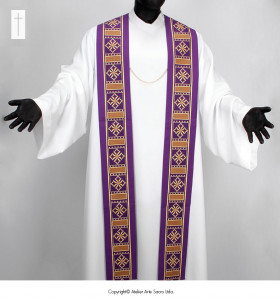 Monogram and Cross Stole