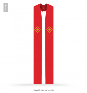 Red Color Cathedral Stole