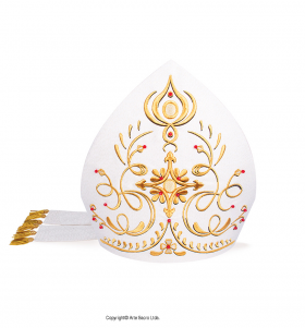 White Color Precious Mitre