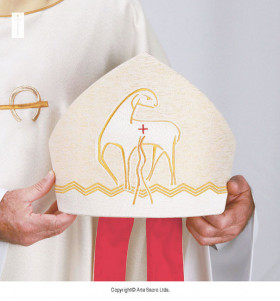Beige Color Good Shepherd Mitre