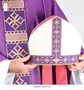 Purple Color Cathedral Mitre