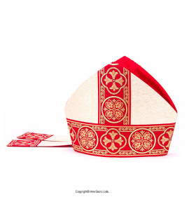 Red Color Liz Flower Mitre