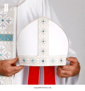 White Color Holy Mary Mitre