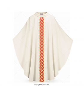 Beige Color Via Salvatoris Chasuble
