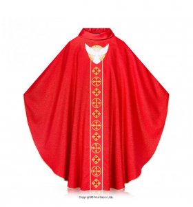 Red Color Pentecost Chasuble