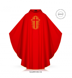 Red Color Holy Cross Chasuble