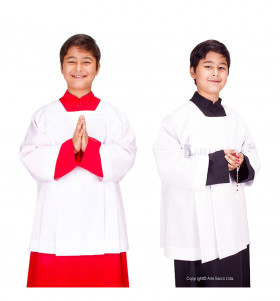 White and Red Color Altar Server Alb