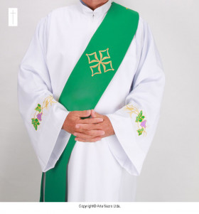 Green Color Cathedral Stole
