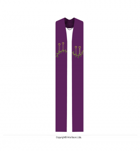 Purple Color Stole for the Advent