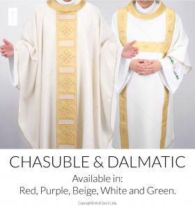 Cathedral Dalmatic and Chasuble Set