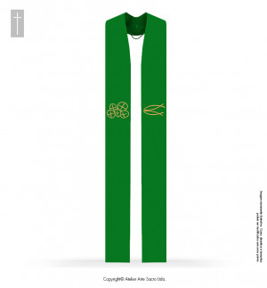 Green Color San Salvador Stole