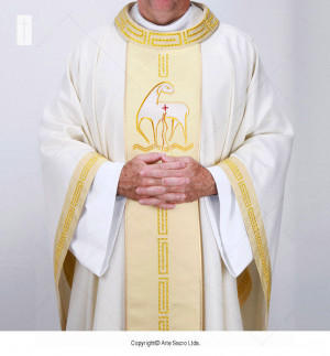 Beige Color Paschal Chasuble