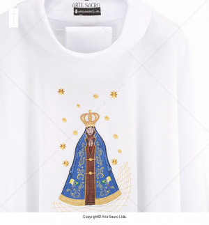 White Color Our Lady of Aparecida Chasuble