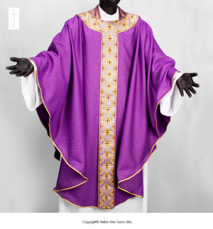 Purple Holy Mary Chasuble