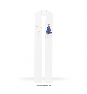White Color Our Lady of Aparecida Stole