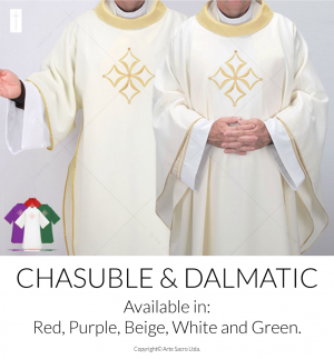 Cathedral Chasuble and Dalmatic Set